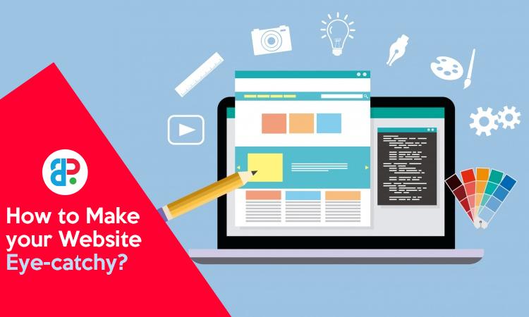 eye catchy website design